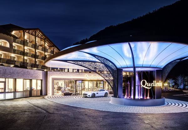 Einfahrt Quellenhof © Quellenhof Luxury Resort Passeier
