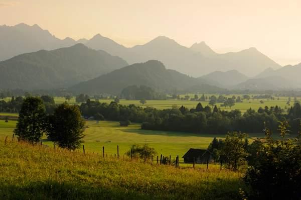 Füssen im Allgäu: Bergpanorama der Tannheimer Kette