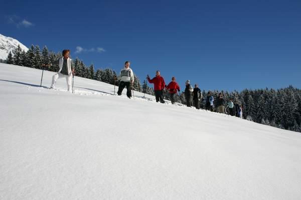 Schneeschuhwandern, Hotel Schneeberg